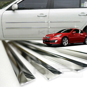 Chrome Side Skirt Door Line Sill Molding for HYUNDAI 2009 - 2012 Genesis Coupe