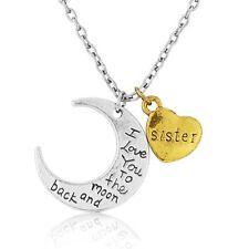I Love You per la luna e ritorno sorella CIONDOLO COLLANA bella scatola regalo