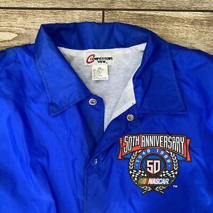NASCAR 50th Anniversary Windbreaker Jacket Extra Large New