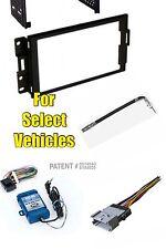 Double Din Stereo Radio Install Dash Kit Combo w/Steering Wheel Audio Adapter