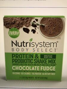 Nutrisystem 5 TURBO shakes CHOCOLATE bust belly bloat digestive health fast free
