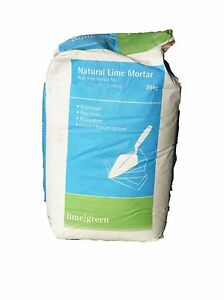 Lime Green Natural Hydraulic Lime Mortar NHL 3.5 (25kg) (Medium Mortar)