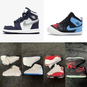 LOT of 6 x 2C Air Jordan 1 6 11 13 + Nike Air Force 1 Toddler Infant Shoes RARE