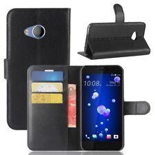 Cartera De Bolsillo Negro Premium para HTC U11 Plus Estuche Cubierta Protección