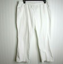 Just My Size Women's Pants PETITE 3X White Easy Comfort Stretch Bootleg JMS