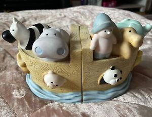 Noah's Ark Bookends Resin Cute Lil Noah by Cheri Lane Nursery