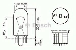 Genuine BOSCH PURE/LT W5W 12V W2.1X9.5D TRADE PK - 1987302206