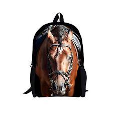 Animal Horse Boys Girls School Bags Travel Backpack Rucksack Childrens Bookbag