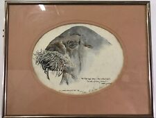 Lot Of 2 C. Coulson-currin Art Print Lithographs Signed Walrus & Seal Framed L3