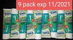 Tom's of Maine Wicked Cool Fluoride Toothpaste Mild Mint 9 pack of 4.2 oz #k108
