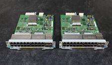 Lot of 2 HP J8705A ProCurve 5400zl 20-Port PoE 4-Port SFP Module        (3b09)