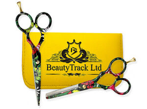 """5.5"""" Professional Hairdressing Scissors Set Barber Hair Cutting Thinning Shears"""