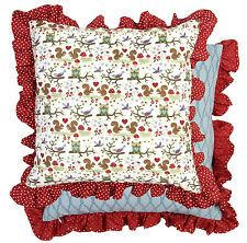 Clayre /& FED Coussin Housse Taie d/'oreiller gequiltet Coton 50 x 50 cm
