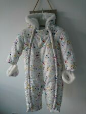 mini club baby girl padded snowsuit 12-18 months worn once