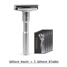 Double Edge Razor with 5 Blades Adjustable Safety Classic Shavers Hair Removal