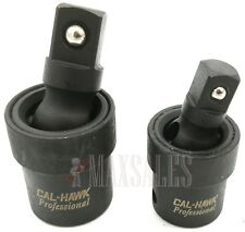 "2pc Universal Impact Joint Set 3/8"" & 1/2"" DR. CR-MO Ball Type Swivel Socket"