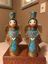 Vintage Japan Christmas Angel Paper Mache Candle Holders
