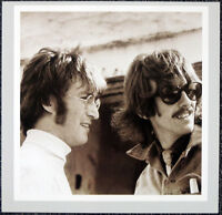THE BEATLES POSTER PAGE . 1967 JOHN LENNON & GEORGE HARRISON IN NEWQUAY . H96