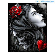 UK Full Drill 5D Diamond Painting Beauty&Skull Embroidery Cross Stitch Kit Gift