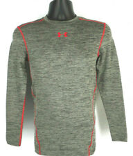 UNDER ARMOUR Compression Cold Gear Mens L/S Gray Mock T-Shirt Tag Size S Small