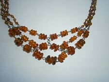 Vintage Baltic AMBER NECKLACE JEWELRY USSR