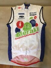 Castelli Wind Vest Covered FZ Mens Medium M Cycling triathlon white red blue