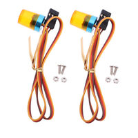 2pcs RC Warning Light for 1/10 Scale Remote Control Vehicle Models DIY Parts
