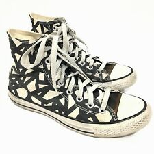 Converse All-Star Chuck Taylor Black/White Pattern 146638C Hitop Mens 7 Womens 9