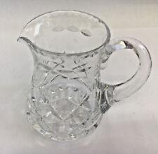 """WEBB CORBETT CRYSTAL CUT GLASS JUG SMALL 4"""""""