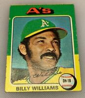 1975 Topps Mini Baseball Card # 545 Billy Williams Oakland A's HOF