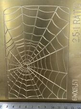 Spider Web For Zippo Brass Master Plate For New Hermes Engraver Font Tray