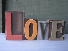 Demdaco Wood Block Letters LOVE  Valentines Day  7x3.25""