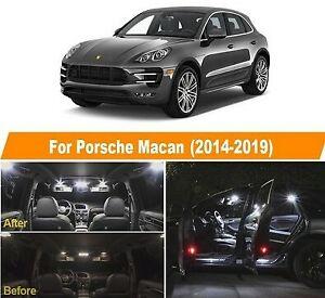 Porsche Macan pack LED ampoules eclairage interieur Blanc Xenon 6000K 14pcs