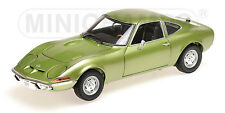 MINICHAMPS 180 049029 OPEL GT 1900 diecast model car green metallic 1972 1:18th