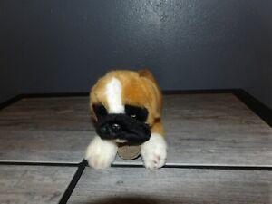 "Cute 10"" YOMIKO Classics Russ Plush BOXER Laying Puppy Dog (*10b)"
