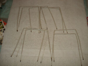 VTG Forster Croquet Set of 9 Replacement Metal White Wickets Goals