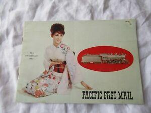 1965 Pacific train fast mail catalog brochure Santa Fe Sierra price list