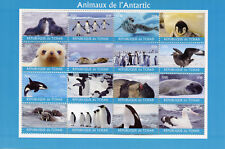 Chad 2018 MNH Animals of Antarctica 16v M/S Penguins Birds Seals Whales Stamps