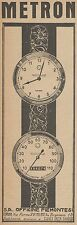 Z3323 METRON - Orologi - Contachilometri - Pubblicità d'epoca - 1926 vintage ad