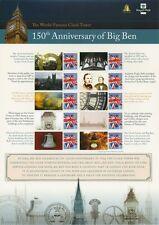 150th Anniversary of Big Ben - Smilers/Commemorative Stamp Sheet Pack