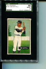 1951 BOWMAN # 130 TOM SAFFELL PIRATES SGC 88 NM-MT 8 SMR $75 VERY TOUGH CARD