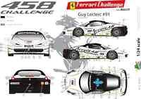 [FFSMC Productions] Calcomanías 1/24 Ferrari F-458 Challenge 2012 Chico Leclerc