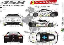 [FFSMC Productions] Decals 1/24 Ferrari F-458 Challenge 2012 de Guy Leclerc