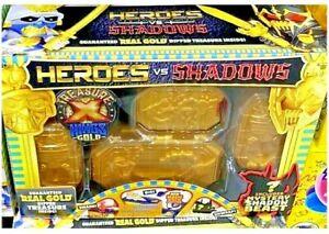 TREASURE X Heroes vs Shadows Kings Gold REAL GOLD DIPPED TREASURE INSIDE Sealed
