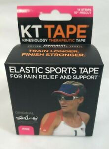 KT Tape Kinesiology Therapeutic Tape 14 Precut Strips Pink