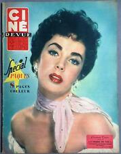 ►CINE REVUE 13/1958-ELIZABETH TAYLOR-BRIGITTE BARDOT-CURD JURGENS-ROMY SCHNEIDER