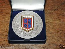 Médaille de table CRS 40  Delsart, dans sa boite d'origine
