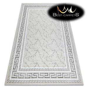 """Modern Elegant Rug """"GLOSS"""" stylish, frame, greek ivory / grey Best Quality"""