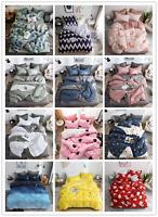 4Pcs Fashion Cotton Bedding Set Duvet Cover Flat sheet PillowCase Multi Color