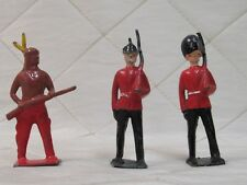 Britains Lead Toy Soldiers Lot of 3 Uniform Indian Rifle Made in England 2 1/4""